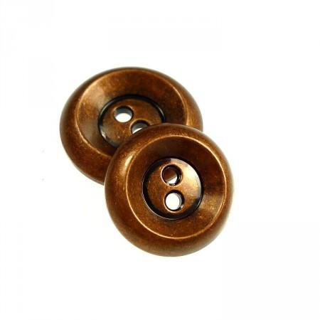 runde knapper av kobber