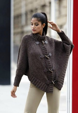 Lana Gatto Alpaca Superfine Cape med duffelknapper