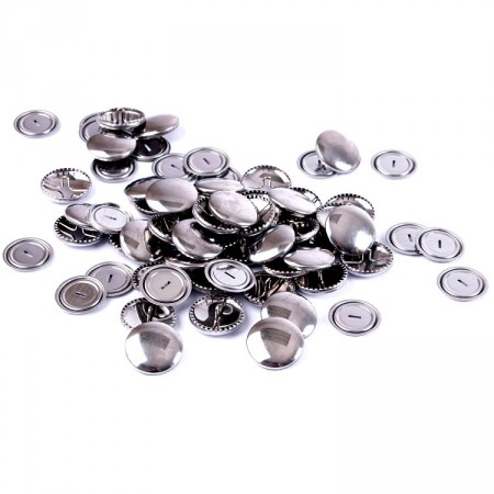 Knapper Self Cover Buttons metall 29mm storpakk
