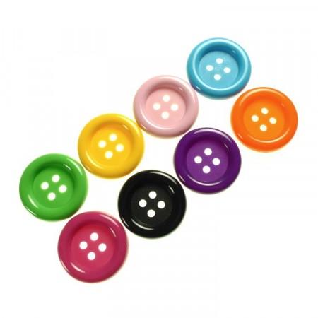 Knapper : Plastknapper mange farger