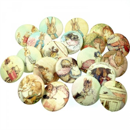 Stoffknapper Beatrix Potter motiver