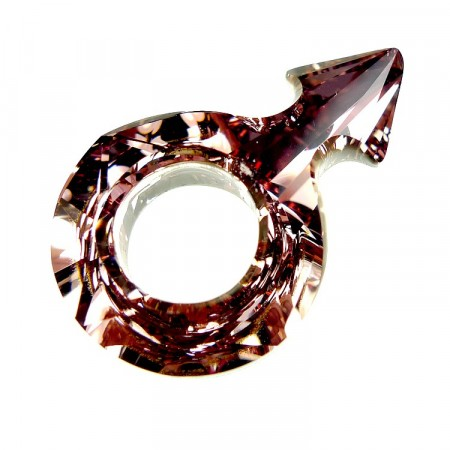 Swarovski 4878 Male Symbol Fancy Stone 001 ANTP