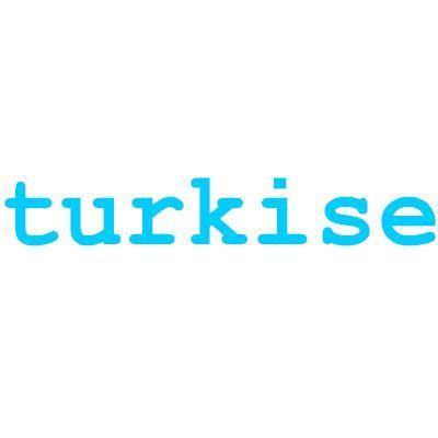 Turkise plastknapper