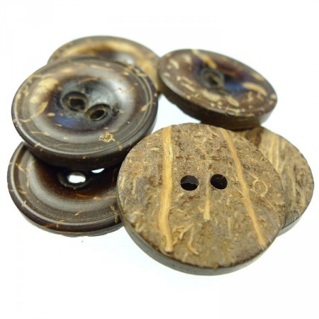 Knapper : Kokos 18mm