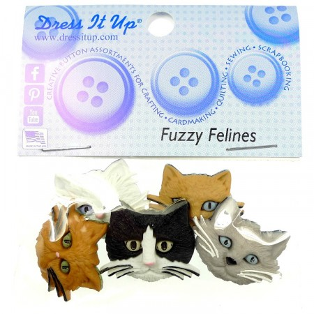 Dress it Up Knapper Fuzzy Felines