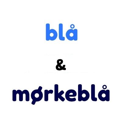 Blå og mørkeblå plastknapper