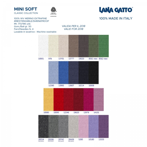 Fargekart Lana Gatto Mini Soft