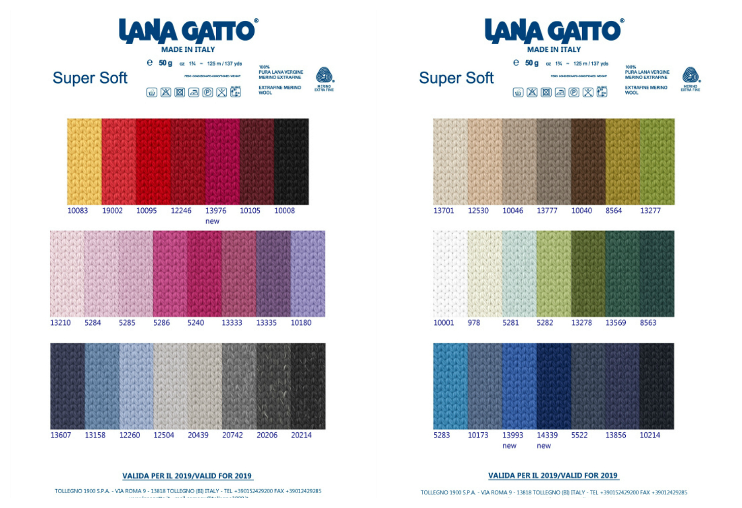 Lana Gatto Super Soft fargekart